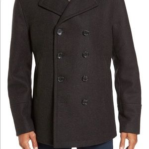 Wool Blend Double Breasted Peacoat,  MICHAEL KORS